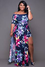1 7 2017 Polyester Floral Boat Neck WomenS Dresses With Slit