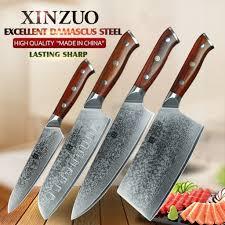 Kitchen Knive Set Xinzuo 4 Pcs Kitchen Knife Set Damascus Steel Kitchen Knife Set Stainless Steel Chef Utility Knife Rosewood Handle Xinzuo 4 Pcs Kitchen Knife Set