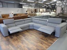 Natuzzi Editions Corner Sofa by Natuzzi Editions Club B790 Leather Power Reclining Sofa Grey