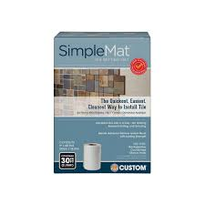 Tile Adhesive Mat Vs Thinset custom building products simplemat 30 sq ft roll of tile setting