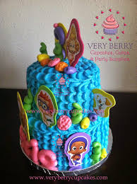 Bubble Guppies Cake Decorations by Veryberry Cupcakes Bubble Guppies Buttercream Cake
