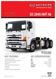 Hino 700 Series SS 2848 AMT Air Spec Sheet By Justin Edwards - Issuu Hino Genuine Parts Nueva Ecija Truck Dealers Awesome Trucks Sel Electric Hybrid China Manufacturers And Hino Adds Five More Deratives To Popular Mcv Range Ryden Center Commercial Medium Duty Motors Canada Light Dealer Hudaya 2018 Fd 1124500 Series Misc Vic For Sale Fl 260 Jt Sales Dan Bus Authorized Dealer Flag City Mack Used Suppliers At Hinowatch Expressway