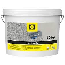 sakret buntsteinputz 2 mm körnung grau bunt 20 kg