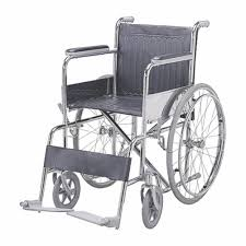 folding wheel chair fixed armrest footrest