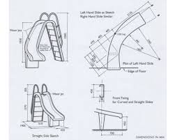 6 Straight And 7 Curved Swimming Pool Slide