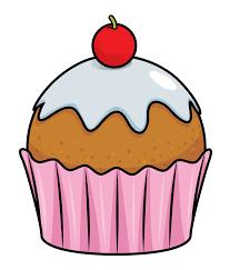 Birthday cupcake clipart 2