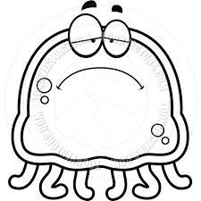 Jellyfish Clip Art Black and White
