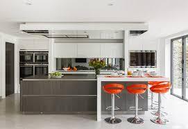 ile cuisine cuisines ile cuisine orange moderne design dinterieur architecture