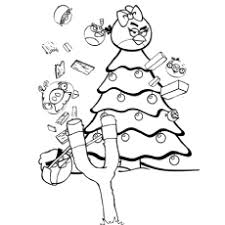 Angry Birds Christmas Coloring Pages