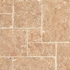Light Walnut Random Sized Mosaic Tile In Chiseled Brushed Wood Flooring