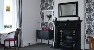 Black Dining Room Fireplace Feature Wall Victorian