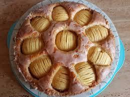 blitz apfel mandel kuchen mit punschguss