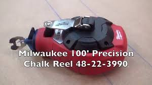 Milwaukee 100' Precision Chalk Reel 48-22-3990 - YouTube