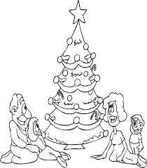 Christmas Tree Coloring Pages Book 36