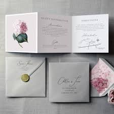 The Flourish Names Wedding Invitation
