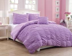 ruffle comforter set purple pink ruffle bedding ideas