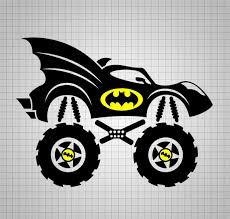100 Monster Truck Batman Bat Mobile Svg Svg Files Superman Svg Svg Etsy