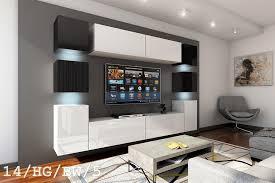 schwarz weiße möbel für wohnzimmer in hochglanz future 14