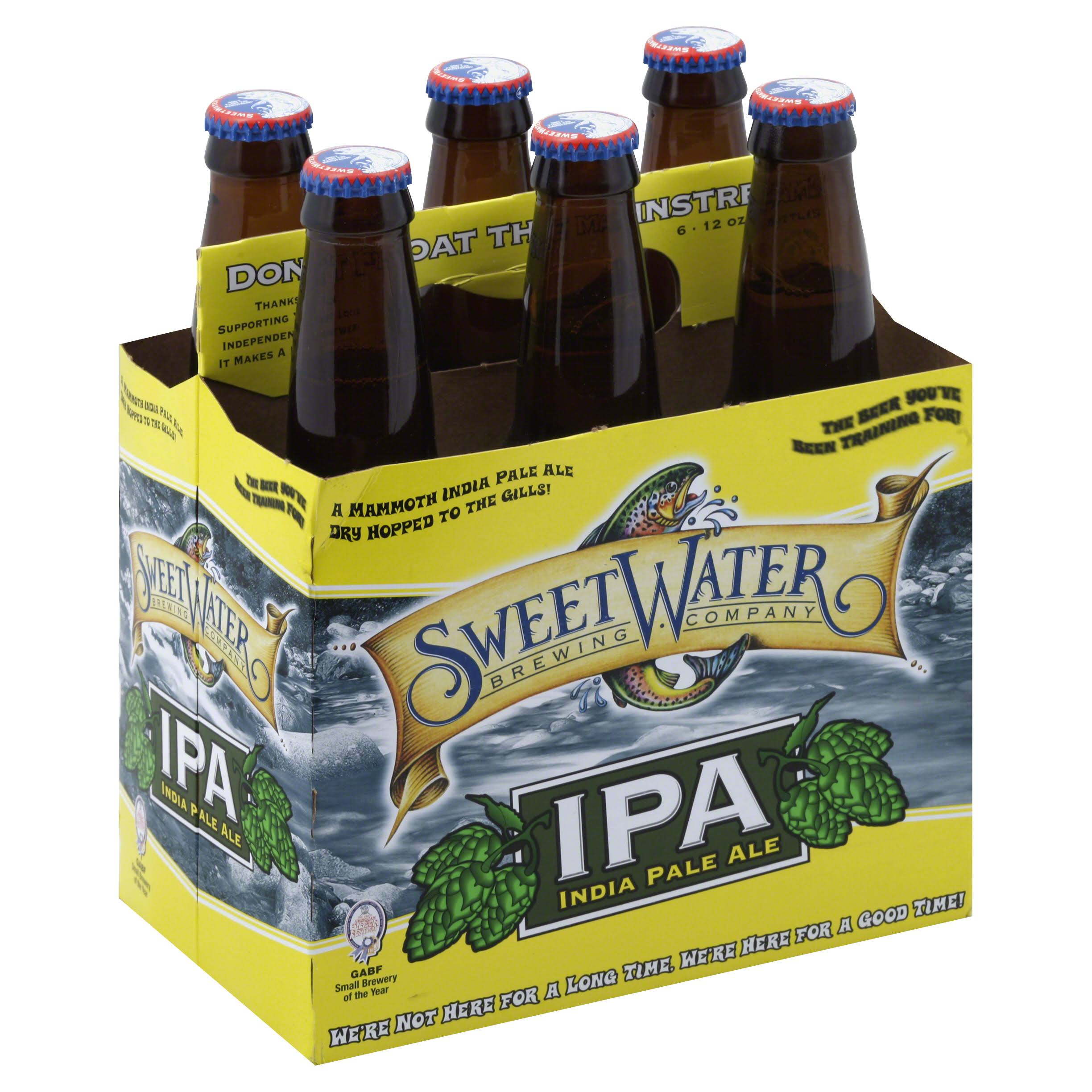 SweetWater IPA, India Pale Ale - 6 pack, 12 oz bottles