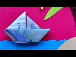 geldschein falten boot zum geldgeschenke basteln zur