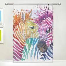 Amazoncom JSTEL Zebra Love Watercolor Pattern Floral Print Tulle