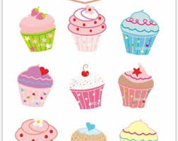 ON SALE Cupcake Clip Art cupcakes clipart cupcake party clipart INSTANT Download