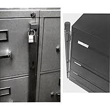 Amazon Locking Bar for Use with 4 Drawer Filing Cabinet