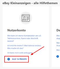 ebay kleinanzeigen account löschen anleitung schritt