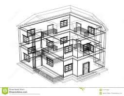 100 House Architect Design Blueprint Isolated Stock