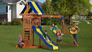 Backyard Discovery Playsets Swing Sets Give The Kids A Playset This Holiday Sears My Tips For Buying And Installing A Set Or Outdoor Skyfort Ii Wooden Playsets Backyard Discovery Amazoncom Prestige All Cedar Wood Costco Gorilla Swings Frontier Walmartcom Creations Adventure Mountain Redwood Installation Interesting Playground Design With And Home Paradise Home Decor Amazing For Billys Ma Ct Ri Nh Me
