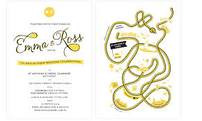 Rustic Wedding Invitation Yellow