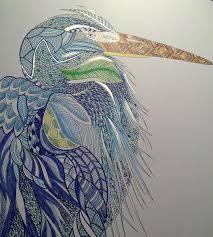 Heron Done Milliemarotta Colouring Watercolor IdeasColouringColoring BooksColored PencilsJohanna BasfordAnimal KingdomHeronsHobbiesTropical