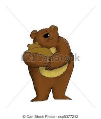 Mama Bear Cartoon Of A Mother Holding Her Baby