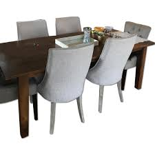 Crate And Barrel Basque Dining Room Set by Crate U0026 Barrel Wood Dining Table W 4 Wisteria Chairs Aptdeco