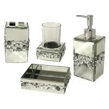 Crackle Glass Bathroom Set by Silver Bathroom Accessories U2013 Laptoptablets Us