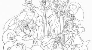 Free Coloring Page Disney Villains Printable Pages About Archives Cool