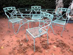 Vintage Woodard Patio Chairs by Vintage Patio Furniture Mid 70 U0027s Early 80 U0027s Wrought Iron Just