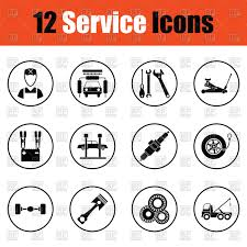 100 Truck Breakdown Service Set Of Service Station Icons Car Wash Breakdown Truck Spark Plug