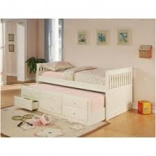 twin captains bed with trundle and storage foter