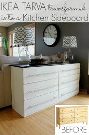 Ikea Tarva 6 Drawer Dresser by Ikea Tarva Transformed Into A Kitchen Sideboard All Things G U0026d