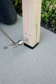Simpson Decorative Joist Hangers by New Diy Post Base Lets You Hide The Hardware Diy Done Right