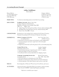 Ultimate Resume For Accounting Internship About Intern Examples