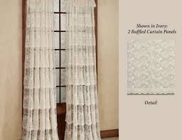 Lace Curtains Panels With Attached Valance by Curtains European Lace Curtains Co Creating Lace Panels