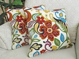 Decorative Couch Pillow Covers by Throw Pillow Cover Decorative Cushion Cover Orange Turquoise Red