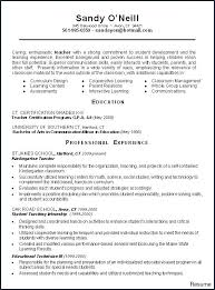 Teachers Sample Resume Special Education Teacher From Example Examples Objective Preschool Download