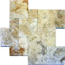 Types Of Natural Stone Flooring by Natural Stone Pavers Hardscapes The Home Depot