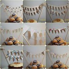 Embroidered Wedding Cake Bunting Topper