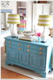 How To Paint And Glaze Furniture Turquoise Makeover