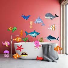 details zu 20 aufkleber bunte unterwasserwelt badezimmer spaß für kinder fische nemo hai