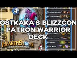 Warrior Hearthstone Deck Grim Patron by Hearthstone Ostkaka U0027s Blizzcon Warrior Patron Deck Youtube